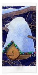 Bird House Christmas Bath Towel