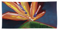 Bird Of Paradise- Art By Linda Woods Bath Towel