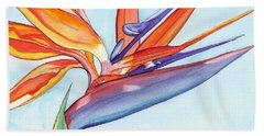 Bird Of Paradise IIi Bath Towel by Marionette Taboniar