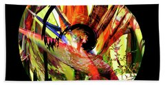 Bath Towel featuring the digital art Bird Of Paradise Lost by Barbara Berney