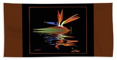 Bird Of Paradise On Water Hand Towel