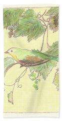 Bird On A Branch Bath Towel