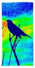 Bird On A Branch Bath Towel