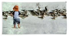 Bath Towel featuring the photograph Bird Play by Claire Bull