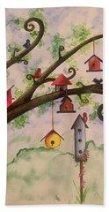Birdhouses Hand Towel