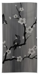 Birds And Blossoms Bath Towel
