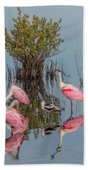 Birds And Mangrove Bush Hand Towel