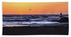Birds At Sunrise Hand Towel