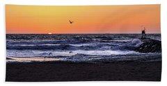 Birds At Sunrise Bath Towel