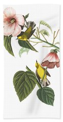 Bath Towel featuring the photograph Birds Chat by Munir Alawi