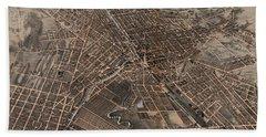 Birds Eye View Of Syracuse, New York  Hand Towel
