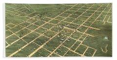 Bird's Eye View Of The City Of Bowling Green, Warren County, Kentucky 1871 Hand Towel