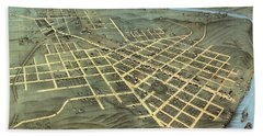 Birds Eye View Of The City Of Chattanooga, Hamilton County, Tennessee 1871 Hand Towel