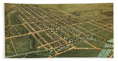 Birds Eye View Of The City Of Circleville, Pickaway County, Ohio 1876 Hand Towel