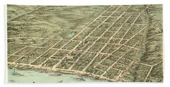 Bird's Eye View Of The City Of Clarksville, Montgomery County, Tennessee 1870 Hand Towel