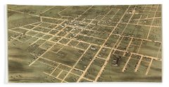 Bird's Eye View Of The City Of Jackson, Madison County, Tennessee 1870 Hand Towel