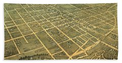 Bird's Eye View Of The City Of Lexington, Fayette County, Kentucky 1871 Hand Towel
