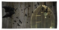 Hand Towel featuring the photograph Birds Gone Wild by Suzanne Powers