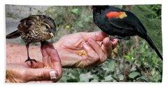 Birds In The Hands Hand Towel