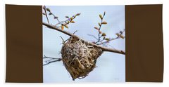 Hand Towel featuring the photograph Birds Nest by Christina Rollo