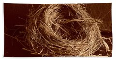 Bird's Nest Sepia Hand Towel