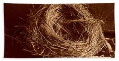 Bird's Nest Sepia Hand Towel
