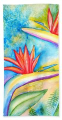 Birds Of Paradise Bath Towel