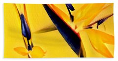 Birds Of Paradise - Two In Gold Hand Towel