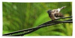Birds Of Sri Lanka  Pycnonotus Cafer Bath Towel
