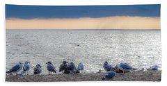 Birds On A Beach Bath Towel