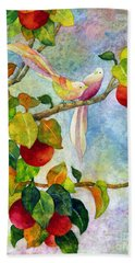 Birds On Apple Tree Hand Towel