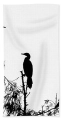 Birds Perched On Branches Bath Towel