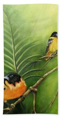On The Lookout, Birds  Hand Towel