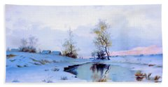 Birth Of Spring In The Snow Hand Towel