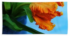 Birthing A Parrot Tulip Hand Towel