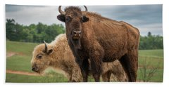Hand Towel featuring the photograph Bison 10 by Joye Ardyn Durham