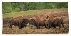 Hand Towel featuring the photograph Bison 2 by Joye Ardyn Durham