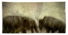 Hand Towel featuring the photograph Bison 3 by Joye Ardyn Durham