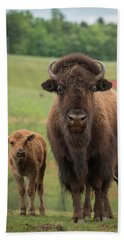 Hand Towel featuring the photograph Bison 4 by Joye Ardyn Durham