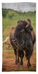 Hand Towel featuring the photograph Bison 5 by Joye Ardyn Durham