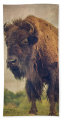 Hand Towel featuring the photograph Bison 8 by Joye Ardyn Durham