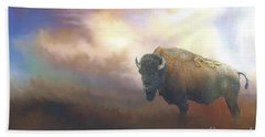 Bison In Yellowstone Hand Towel