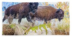 Bison Pair Bath Towel