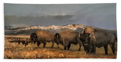 Bisons Of The Front Range Bath Towel