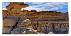 Bath Towel featuring the photograph Bisti Badlands Formations - New Mexico - Landscape by Jason Politte