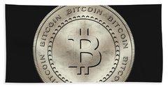 Bitcoin Symbol Hodl Quote Typography Bath Towel