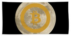 Bitcoin To The Moon Hand Towel