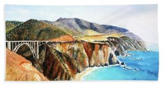Bixby Bridge Big Sur Coast California Hand Towel