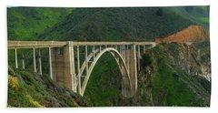 Bixby Bridge In Big Sur Hand Towel