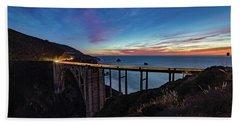 Bixby Bridge Sunset Hand Towel
